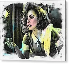 Lady Gaga - Movie Pop Art Acrylic Print by Ian Gledhill