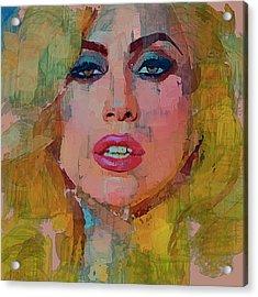 Lady Gaga Portrait Acrylic Print by Yury Malkov