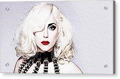 Lady Gaga Acrylic Print by Iguanna Espinosa