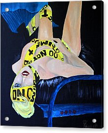 Lady Gaga Telephone Acrylic Print by Robert Hodgson