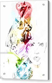 Lady Gaga Acrylic Print by The DigArtisT