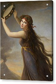 Lady Hamilton, As A Bacchante Acrylic Print