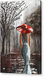 Lady In A Red Hat Acrylic Print