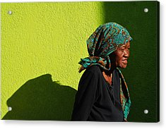 Lady In Green Acrylic Print
