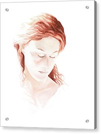 Lady In Light Acrylic Print