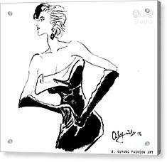 Lady In Night Dress Acrylic Print