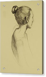 Lady In Profile Acrylic Print by Susan Fowler