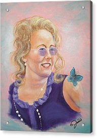 Lady In Purple Acrylic Print by Joni McPherson