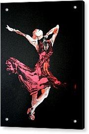 Lady In Red  Acrylic Print by Ana Bikic