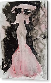 Lady In The Pink Hat Acrylic Print