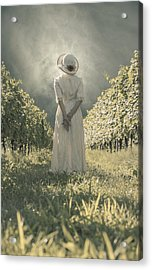 Lady In Vineyard Acrylic Print by Joana Kruse