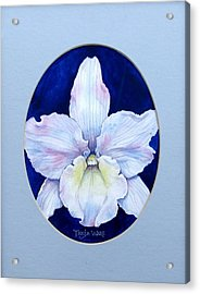 Lady In White Acrylic Print by Tanja Ware