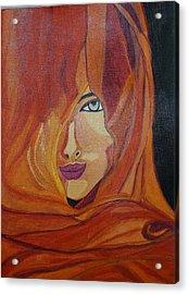 Lady Inveil Acrylic Print by Shweta Singh
