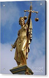 Lady Justice In Bruges Acrylic Print
