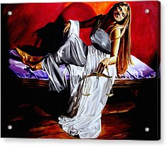 Lady Justice Acrylic Print by Laura Pierre-Louis