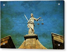 Lady Justice. Streets Of Dublin. Painting Collection Acrylic Print