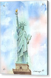 Lady Liberty Acrylic Print by Arline Wagner