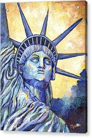 Lady Liberty Acrylic Print by Linda Mears