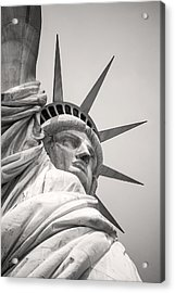 Lady Libety In Black And White Acrylic Print