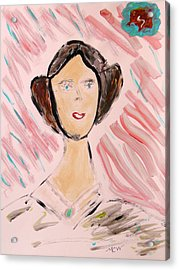Acrylic Print featuring the painting Lady Of The Ages by Mary Carol Williams