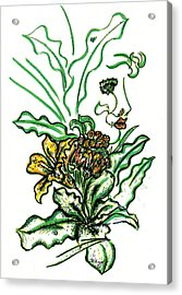 Lady Of The Garden Acrylic Print by Judith Herbert