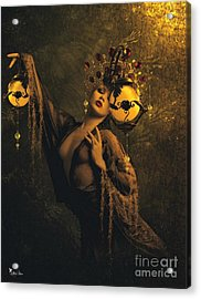 Lady Of The Golden Lamps Acrylic Print by Ali Oppy