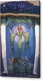 Lady Of The Green Tree Acrylic Print