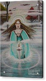 Lady Of The Lake II Acrylic Print by Tammy Mae Moon
