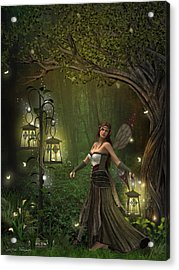 Lady Of The Lanterns Acrylic Print