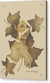 Lady Of The Leaf 3 Acrylic Print