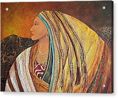 Lady Of The Mountains Acrylic Print by Candy Mayer