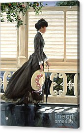 Lady On A Porch Acrylic Print by Michael Swanson