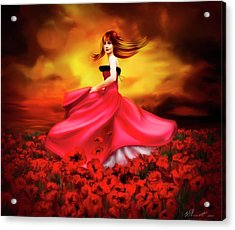 Lady Poppy Acrylic Print by Svetlana Sewell
