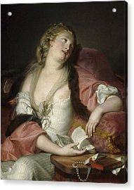 Lady Reading The Letters Of Heloise And Abelard Acrylic Print