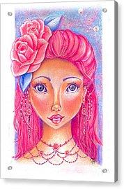 Lady Rose Acrylic Print by Delein Padilla