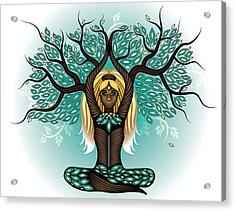 Lady Shaman Tree Acrylic Print by Serena King
