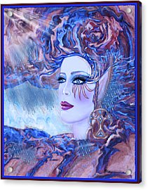 Lady Storm Cloud Acrylic Print