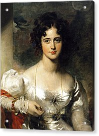 Lady Acrylic Print by Thomas Lawrence
