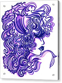 Lady Violet Acrylic Print by Judith Herbert