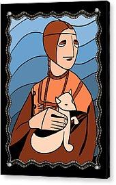 Lady With An Ermine By Piotr Acrylic Print