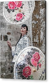 Lady With An Umbrella. Acrylic Print