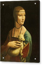 Lady With Ermine Acrylic Print by Pg Reproductions