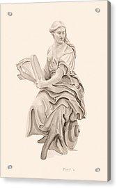 Lady With Harp Acrylic Print
