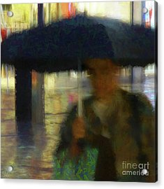 Lady With Umbrella Acrylic Print