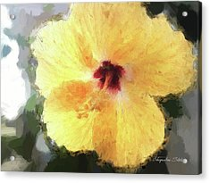Lady Yellow Acrylic Print
