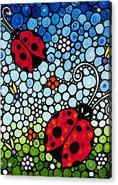 Ladybug Art - Joyous Ladies 2 - Sharon Cummings Acrylic Print by Sharon Cummings