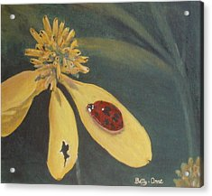 Acrylic Print featuring the painting Ladybug by Betty-Anne McDonald