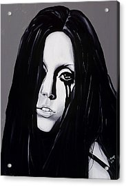 Ladygaga Acrylic Print by Leeann Stumpf