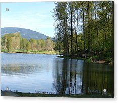 Acrylic Print featuring the painting Lafarge Lake Serenity by Rod Jellison