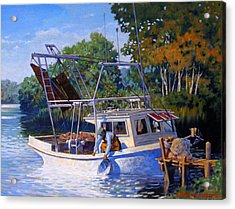 Lafitte Skiff Acrylic Print by Kevin Lawrence Leveque